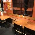お店の奥にもテーブル席をご用意!ちょっとした半個室利用もできます!