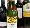世界各国から集めたワインが常備50種類以上!