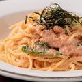 料理メニュー写真燻製明太子のクリームスパゲッティー