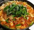 料理メニュー写真コプチャン鍋(牛ホルモン鍋)