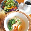 料理メニュー写真美肌豆乳ヘルシースープ麺セット/ドリンク付