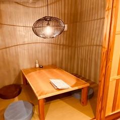 落ち着いておくつろぎ頂けるお座敷タイプの個室ご用意いたしております。感染症対策に!