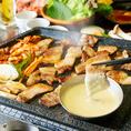 ≪スタンダードコース≫2.5時間飲み放題★サムギョorタッカルビ選べるメイン【8品3500円】韓国料理を楽しめる当店看板コースです♪メインは当店人気のサムギョプサルorタッカルビからお選びいただけます。その他にもチョレギサラダや海鮮ニラチヂミも楽します♪宴会、ディナー、飲み会、会社宴会などにご利用ください♪