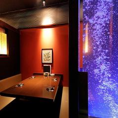 ◆和モダン個室◆2名~4名◆しっとりと寛げる和モダン個室は友人同士や女子会・デート利用におすすめ!ソファータイプですので4名で利用しても広々利用可能!