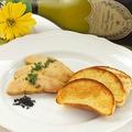 料理メニュー写真フォアグラのはちみつコンフィと自家製ブリオッシュ