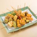 料理メニュー写真串揚げ盛合せ(肉&海鮮)10本