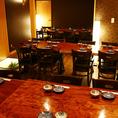 仕切りを取り外すことで最大36名様までご利用いただけるテーブル席の個室。歓迎会、送別会、同窓会、誕生日会など各種ご宴会に最適です。お気軽にお問い合わせください!