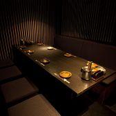 8名様はテーブル席の半個室、16名様迄はテーブル席の完全個室となります☆