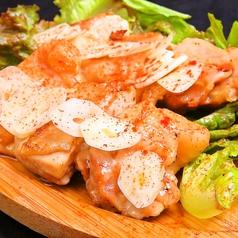 阿波尾鶏のガーリックバター焼き
