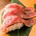 料理メニュー写真■ 特選米沢牛の大とろ炙り寿司 (3貫)