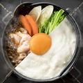 料理メニュー写真■月見・鶏すき鍋