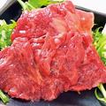 料理メニュー写真厳選馬肉のお刺身(ハラミ)
