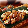 料理メニュー写真比内地鶏の炭火炙り焼