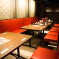 テーブル席は気の合うお仲間との飲み会や小規模宴会から中規模宴会にもぴったり♪