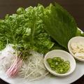 料理メニュー写真包み野菜セット
