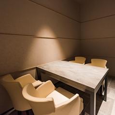 完全個室のプライベートな空間。周りを気にせず、ごゆっくりとお過ごしいただけます。