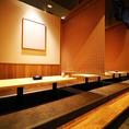 50名様でもOKの広々掘りごたつ座敷は会社宴会や仲間内の飲み会に最適です。