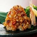 料理メニュー写真活〆真鯛の特製なめろう