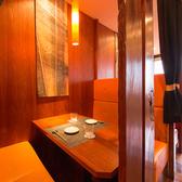 カーテンで仕切るテーブル個室空間。プライベートな空間を演出。船橋で飲み会、デートなどに個室居酒屋 一粋をご利用下さい。