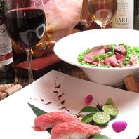 肉や寿司を使用したお手頃料理の数々◎お洒落な宴会に♪