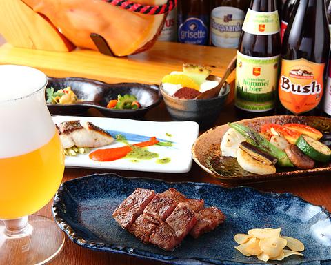 小江戸・川越の贅沢空間 『厳選食材の鉄板焼き』&『常備30種以上のクラフトビール』