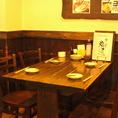 プライベートな飲み会、女子会等におすすめのテーブル席