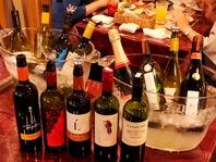 約100種のワインを取り揃えております。