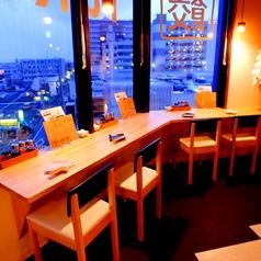 湘南台の夜景を見ながらお食事も人気です!!小田急線も見下ろせる特等席☆