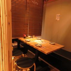 【半個室テーブルお席】2~4名様ご利用可能×4卓(居酒屋 えーす 大名 個室 飲み放題)