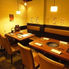 カフェのようなお洒落な空間で焼き肉をお楽しみ頂けます★女性同士の方でも使いやすいお店です♪