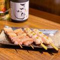 料理メニュー写真三元豚の串 炭火焼き(塩/柚子胡椒/ゴルゴンゾーラ)