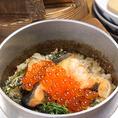 【鮭といくらの釜飯】