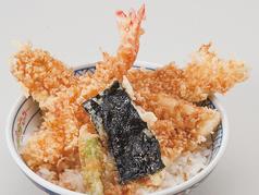 天丼(漬物、小鉢、みそ汁付)