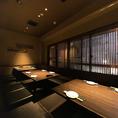各種ご宴会、送別会など色々なシチュエーションにお使い頂けるお部屋です。お客様の人数によってお席を作ることができます。
