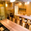 《飯田橋駅1分の好立地》広々としたテーブル席は会社宴会・同窓会・友人との食事等、幅広いシーンでご利用いただけます。