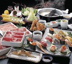 牛しゃぶしゃぶ・上寿司食べ放題