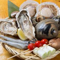 産地直送の新鮮な魚介類使用!
