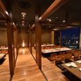 会社宴会・プライベート宴会におすすめです♪◆個室 宴会×夜景 牛たん 閣牛 新宿店◆