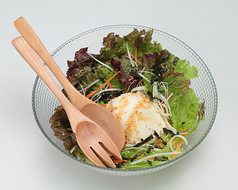朝打ち豆腐サラダ