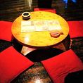 ゆったり丸テーブルの5名様掘り炬燵席