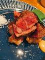 料理メニュー写真【名物オーダーカットステーキ】黒毛牛ロースステーキ 150g