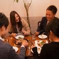 【4人掛けテーブル×8卓】お洒落な空間で美味しい食事とワインをぜひどうぞ♪