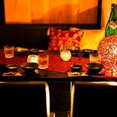 合コンや接待なので大活躍の小団体様向けの個室◎間接照明のお洒落な明るさと雰囲気でお酒が進むこと間違い無し!ぜひ体感してみてください♪
