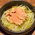 料理メニュー写真明太子ポテトのアヒージョ
