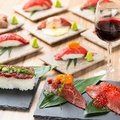 料理メニュー写真大人気の肉寿司シリーズ