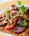 料理メニュー写真牛ランプ肉ステーキ
