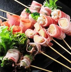 ブロッコリー豚肉巻き(2本)/トマトベーコン巻き(2本)