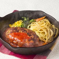 料理メニュー写真トマト煮込みハンバーグ