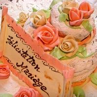 自家製ウェディングケーキ