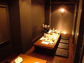 8名掛け×2席の掘りごたつテーブル個室